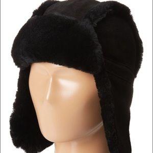 287d17193c7f7 UGG Accessories - Ugg Kids Bailey Aviator Hat Black Sheepskin O S